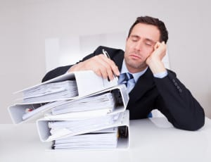 Tired Man Sleep Apnea Treatment