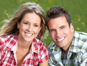 White Teeth Couple