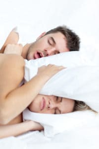 trouble sleeping from snoring